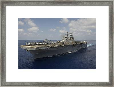 Amphibious Assault Ship Uss Makin Framed Print by Stocktrek Images