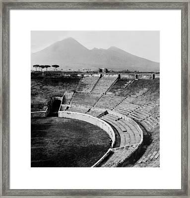 Amphitheater In Pompeii - Italy - C 1926 Framed Print