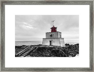 Amphitrite Point Lighthouse Framed Print by Mark Kiver
