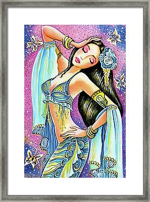 Framed Print featuring the painting Amrita by Eva Campbell
