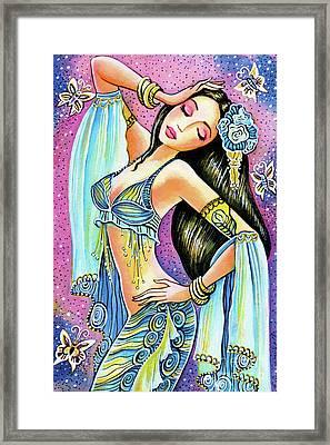 Amrita Framed Print by Eva Campbell