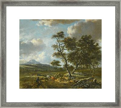 Amsterdam A Landscape With Cattle  Framed Print by MotionAge Designs