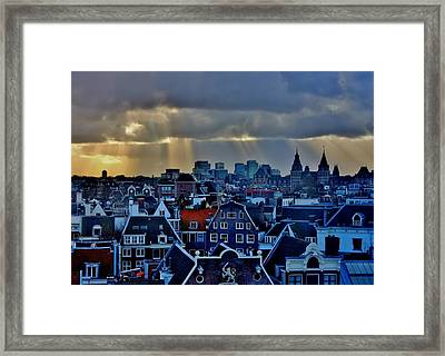 Amsterdam After The Storm Framed Print by Stacie Gary