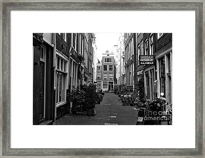 Amsterdam Alley Wonders Mono Framed Print by John Rizzuto