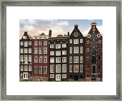 Amsterdam Architectre At Twilight Framed Print