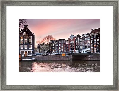 Amsterdam At Sunset Framed Print by Andre Goncalves