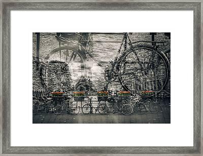 Amsterdam Bicycle Nostalgia Framed Print by Melanie Viola