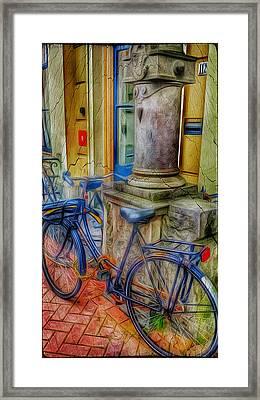Amsterdam Blue Bike Framed Print