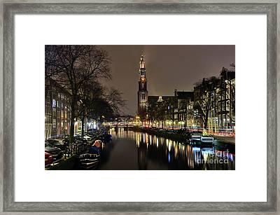 Amsterdam By Night - Prinsengracht Framed Print