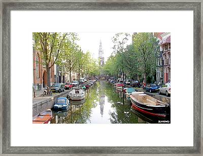 Amsterdam Canal Framed Print by Al Blackford