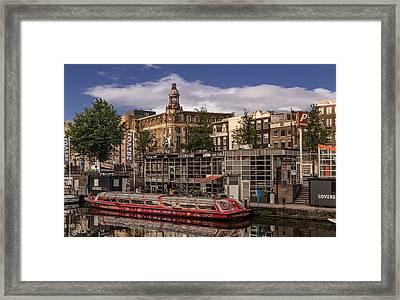 Amsterdam Canal Cruises Framed Print