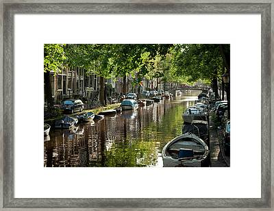Amsterdam Canal Framed Print by Joan Carroll