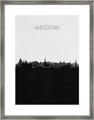 Amsterdam Cityscape Art Framed Print