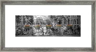 Amsterdam Gentlemen's Canal Panoramic View Framed Print by Melanie Viola