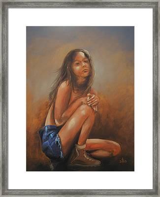 Amsterdam Girl Framed Print