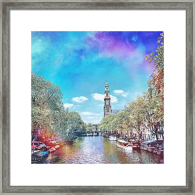 Amsterdam, Prinsengracht Framed Print by Greetje Kamps