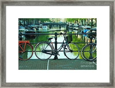 Framed Print featuring the photograph Amsterdam Scene by Allen Beatty