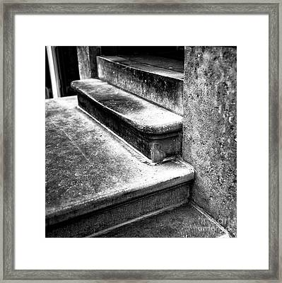 Amsterdam Stair Dimensions Mono Framed Print