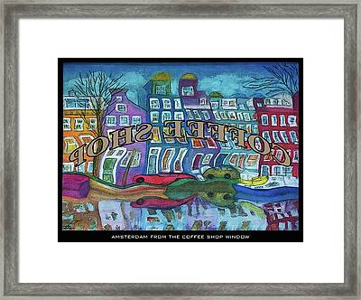 Amsterdam Through The Coffee Shop Window Framed Print