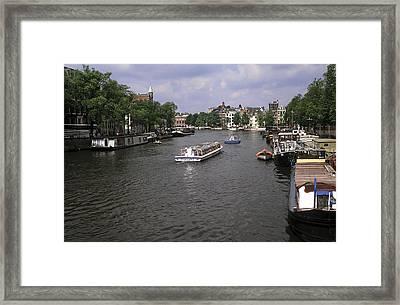 Amsterdam Water Scene Framed Print