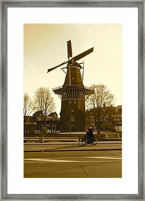 Amsterdam Windmill Framed Print by Matthew Kennedy