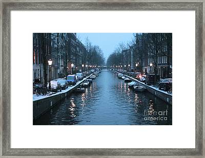 Amsterdam Winter Blues Framed Print