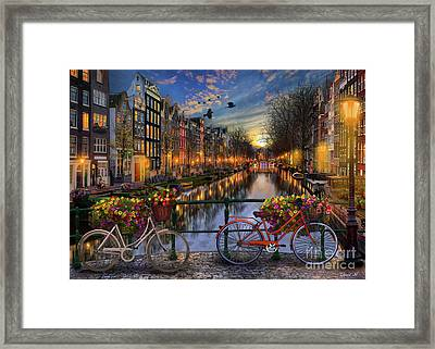 Amsterdam With Love Framed Print