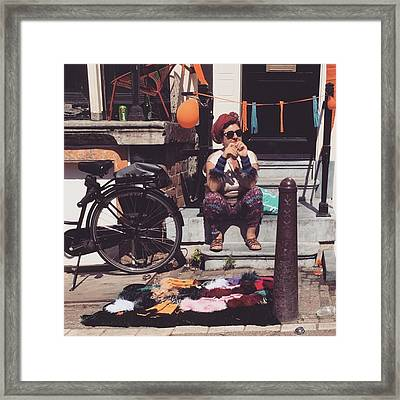 Amsterdammer Old Lady  #lady Framed Print