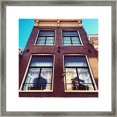 Amsterdammer Windows  #architecture Framed Print