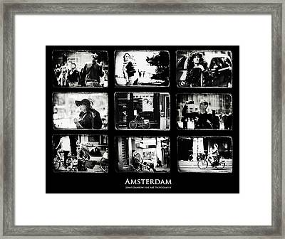 Amsterdammers And Strangers. Amsterdam By Jenny Rainbow Framed Print by Jenny Rainbow