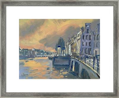 Amsterdm Morning Light Amstel Framed Print