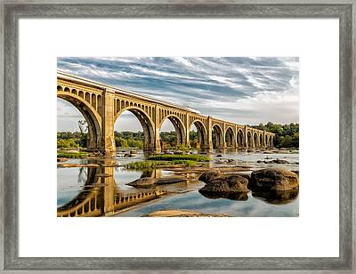 Amtrak Over The James Framed Print