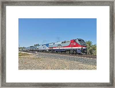 Amtrak 42  Veteran's Special Framed Print