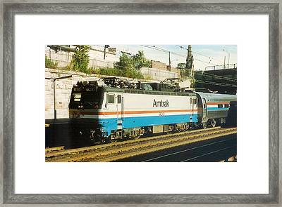 Amtrak Aem-7 Framed Print