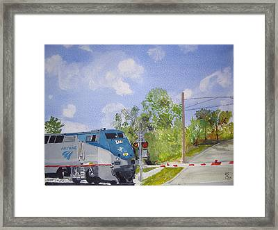 Amtrak Framed Print