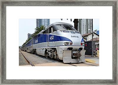 Amtrak F59 At San Diego Framed Print