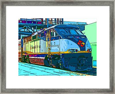 Amtrak Locomotive Study 2 Framed Print by Samuel Sheats