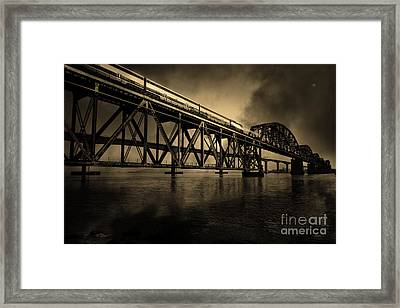 Amtrak Midnight Express 5d18829 Sepia Framed Print by Wingsdomain Art and Photography