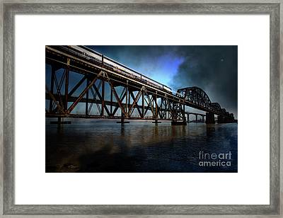 Amtrak Midnight Express 5d18829 Framed Print by Wingsdomain Art and Photography