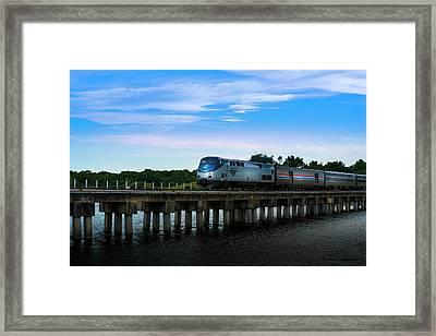 Amtrak No 25 Framed Print by Marvin Spates