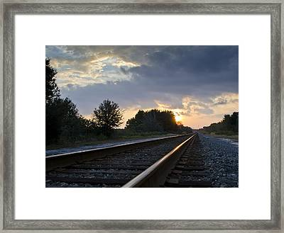 Amtrak Railroad System Framed Print