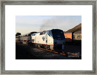 Amtrak Trains At The Niles Canyon Railway In Historic Niles District California . 7d10856 Framed Print