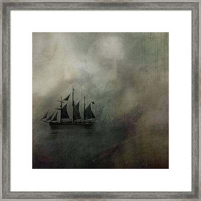 Amundsen And Fram Framed Print