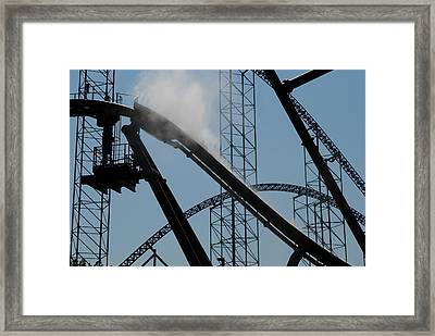 Amusement Park Abstract Framed Print by Frozen in Time Fine Art Photography
