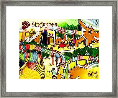 Amusement Park In Singapore 4 Framed Print