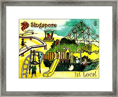 Amusement Park In Singapore 5 Framed Print