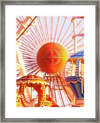 Amusement Rides Framed Print by Eric  Schiabor