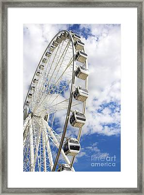 Amusement Wheel Framed Print by Jorgo Photography - Wall Art Gallery