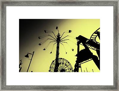 Amusements In Silhouette Framed Print