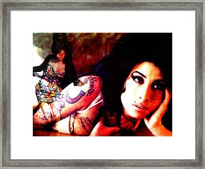 Amy Amy Amy Framed Print by Ankeeta Bansal